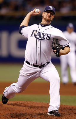 ST. PETERSBURG, FL - SEPTEMBER 29:  Pitcher Jeff Niemann #34 of the Tampa Bay Rays pitches against the Baltimore Orioles during the game at Tropicana Field on September 29, 2010 in St. Petersburg, Florida.  (Photo by J. Meric/Getty Images)