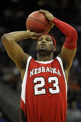 KANSAS CITY, MO - MARCH 11:  Quincy Hankins-Cole #23 of the Nebraska Cornhuskers shoots a free throw against the Texas A&M Aggies in the first half during the quarterfinals of the 2010 Phillips 66 Big 12 Men's Basketball Tournament at the Sprint Center on