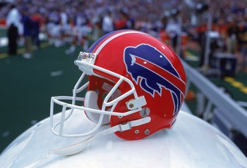 15 Oct 2000:  A general view of the Buffalo Bills helmet after the game against the San Diego Chargers at the Ralph Wilson Stadium in Orchard Park, New York. The Bills defeated the Chargers 27-24.Mandatory Credit: Rick Stewart  /Allsport