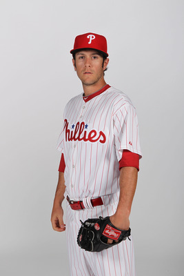 CLEARWATER, FL - FEBRUARY 22:  Michael Stutes #68 of the Philadelphia Phillies poses for a photo during Spring Training Media Photo Day at Bright House Networks Field on February 22, 2011 in Clearwater, Florida.  (Photo by Nick Laham/Getty Images)