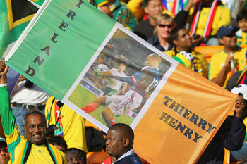 JOHANNESBURG, SOUTH AFRICA - JUNE 11:  South African fans show their support for Ireland at the 2010 FIFA World Cup South Africa Group A match between South Africa and Mexico at Soccer City Stadium on June 11, 2010 in Johannesburg, South Africa.  (Photo b