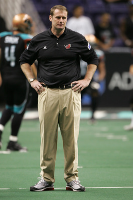 PHOENIX - JUNE 30:  Head coach Steve Thonn of the Grand Rapids Rampage watches during a game between Grand Rapids Rampage and Arizona Rattlers at the US Airways Center on June 30, 2008 in Phoenix, Arizona .   (Photo by Gene Lower/Getty Images)