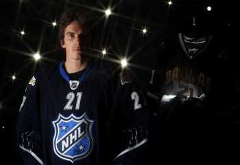 RALEIGH, NC - JANUARY 30:  (EDITORS NOTE: A special effects camera filter was used for this image.) Loui Eriksson #21 of the Dallas Stars of the Minnesota Wild for Team Lidstrom poses for a portrait before the 58th NHL All-Star Game at RBC Center on Janua