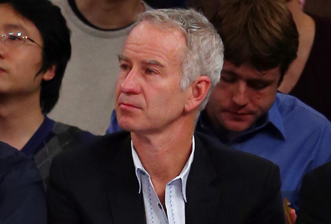 NEW YORK, NY - DECEMBER 17:  Tennis legend John McEnroe attends the game between the New York Knicks and the Houston Rockets on December 17, 2012 at Madison Square Garden in New York City. NOTE TO USER: User expressly acknowledges and agrees that, by down