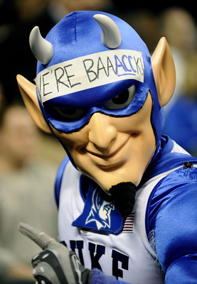GREENSBORO, NC - MARCH 14:  The Duke Blue Devil is shown during a game against the Georgia Tech Yellow Jackets in the championship game of the 2010 ACC Men's Basketball Tournament at the Greensboro Coliseum on March 14, 2010 in Greensboro, North Carolina.