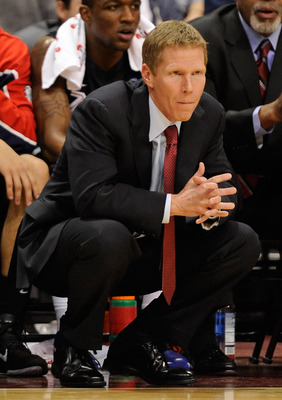 LAS VEGAS, NV - MARCH 07:  Gonzaga Bulldogs head coach Mark Few watches his team take on the Saint Mary's Gaels during the championship game of the Zappos.com West Coast Conference Basketball tournament at the Orleans Arena March 7, 2011 in Las Vegas, Nev