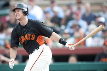 SCOTTSDALE, AZ - FEBRUARY 25: Buster Posey #28 of the San Francisco Giants bats during a spring training game against the Arizona Diamondbacks at Scottsdale Stadium on February 25, 2011 in Scottsdale, Arizona. (Photo by Rob Tringali/Getty Images)