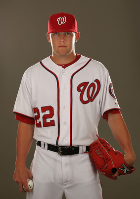 VIERA, FL - FEBRUARY 25:  Drew Storen #22 of the Washington Nationals poses for a portrait during Spring Training Photo Day at Space Coast Stadium on February 25, 2011 in Viera, Florida.  (Photo by Al Bello/Getty Images)