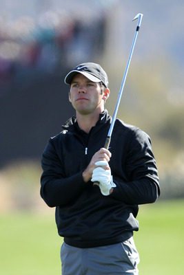 MARANA, AZ - FEBRUARY 24:  Paul Casey of England watches his second shot on the first hole during the second round of the Accenture Match Play Championship at the Ritz-Carlton Golf Club on February 24, 2011 in Marana, Arizona.  (Photo by Andy Lyons/Getty