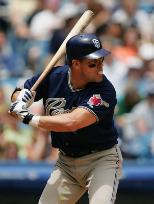 NEW YORK - JUNE 13:  Jeff Cirillo #7  of the San Diego Padres stands ready at bat during the interleague game against the New York Yankees on June 13, 2004 at Yankee Stadium in the Bronx, New York. The Yankees won 6-5 in the12th inning.  (Photo by Ezra Sh