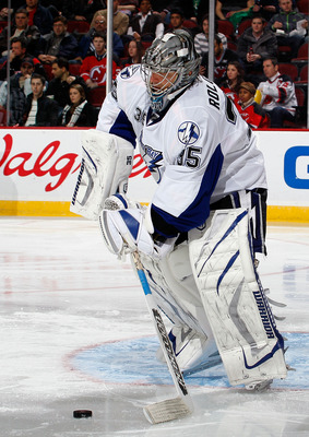 Questionable goaltending may lead the Lightning to an early exit.