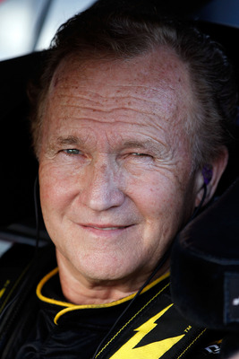 DAYTONA BEACH, FL - FEBRUARY 18:  Morgan Shepherd, driver of the #89 Salvation Army Chevrolet, sits in his car during qualifying for the NASCAR Nationwide Series DRIVE4COPD 300 at Daytona International Speedway on February 18, 2011 in Daytona Beach, Flori
