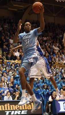DURHAM, NC - FEBRUARY 09:  John Henson #31 of the North Carolina Tar Heels against the Duke Blue Devils during their game at Cameron Indoor Stadium on February 9, 2011 in Durham, North Carolina.  (Photo by Streeter Lecka/Getty Images)