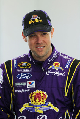 LAS VEGAS, NV - MARCH 05:  Matt Kenseth, driver of the #17 Crown Royal Ford, stands in the garage during practice for the NASCAR Sprint Cup Series Kobalt Tools 400 at Las Vegas Motor Speedway on March 5, 2011 in Las Vegas, Nevada.  (Photo by Jeff Gross/Ge