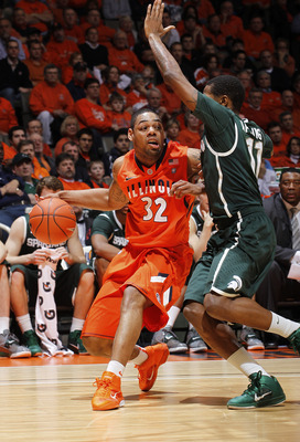 Dememtri McCamey Needs to Play Well for the Illini to beat Michigan