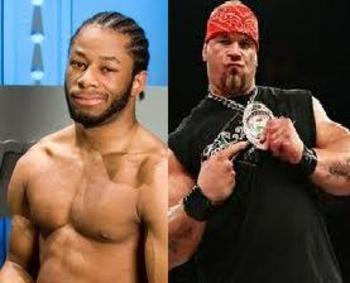 Pictured left Jay Lethal, to the right, Hernandez