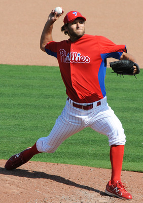 CLEARWATER, FL - FEBRUARY 27:  Pitcher Michael Schwimer #78  of the Philadelphia Phillies throws in relief against the New York Yankees February 27, 2011 at Bright House Field in Clearwater, Florida.  (Photo by Al Messerschmidt/Getty Images)
