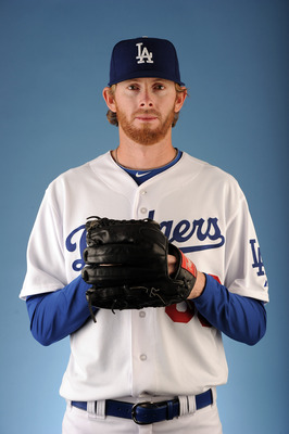 GLENDALE, AZ - FEBRUARY 25:  Mike MacDougal #66 of the Los Angeles Dodgers poses for a photo on photo day at Camelback Ranch on February 25, 2011 in Glendale, Arizona.  (Photo by Harry How/Getty Images)
