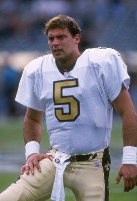 9 Nov 1997:  Quarterback Heath Shuler of the New Orleans Saints during the Saints 13-10 win over the Oakland Raiders at UMAX Coliseum in Oakland, California. Mandatory Credit: Otto Greule  /Allsport