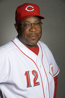 GOODYEAR, AZ - FEBRUARY 20: Dusty Baker #12 manager of the Cincinnati Reds poses during the Cincinnati Reds photo day at the Cincinnati Reds Spring Training Complex on February 20, 2011 in Goodyear, Arizona. (Photo by Rob Tringali/Getty Images)