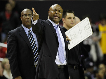COLLEGE PARK, MD - FEBRUARY 23: Leonard Hamilton, head coach of the  Florida State Seminoles yells at an official against the Maryland Terrapins against at the Comast Center on February 23, 2011 in College Park, Maryland.  (Photo by Rob Carr/Getty Images)