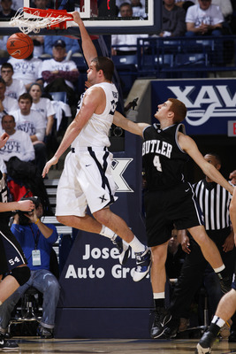 7-foot center, Kenny Frease in one four Musketeers averaging double figures