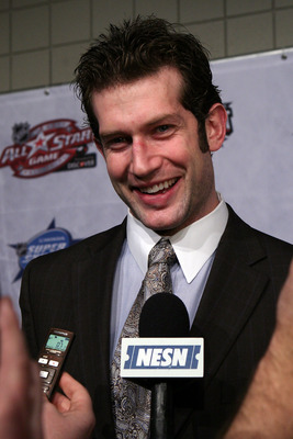 RALEIGH, NC - JANUARY 28:  David Backes of the St. Louis Blues answers questions during NHL All Star Player Media Availability apart of the 2011 NHL All-Star Weekend at the Raleigh Convention Center on January 28, 2011 in Raleigh, North Carolina.  (Photo