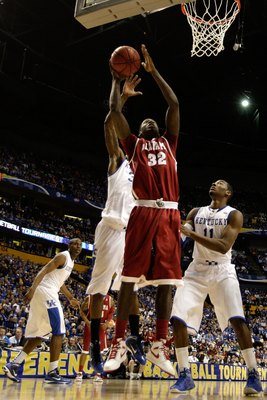 NASHVILLE, TN - MARCH 12:  Jamychal Green #32 of the Alabama Crimson Tide goes up for a shot against the Kentucky Wildcats during the quarterfinals of the SEC Men's Basketball Tournament at the Bridgestone Arena on March 12, 2010 in Nashville, Tennessee.