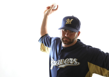 MARYVALE, AZ - FEBRUARY 24:  Shaun Marcum #18 of the Milwaukee Brewers poses for a portrait during Spring Training Media Day on February 24, 2011 at Maryvale Stadium in Maryvale, Arizona.  (Photo by Jonathan Ferrey/Getty Images)