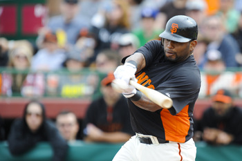 SCOTTSDALE, AZ - FEBRUARY 26: Pablo Sandoval #48 of the San Francisco Giants bats during a spring training game against the Los Angeles Dodgers at Scottsdale Stadium on February 26, 2011 in Scottsdale, Arizona. (Photo by Rob Tringali/Getty Images)