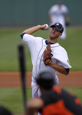 LAKELAND, FL - MARCH 04:  Rick Porcello #48 of the Detroit Tigers pitches in the first inning during the game against the Baltimore Orioles at Joker Marchant Stadium on March 4, 2011 in Lakeland, Florida.  (Photo by Leon Halip/Getty Images)
