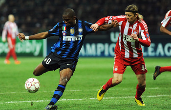 Eto'o against Bayern