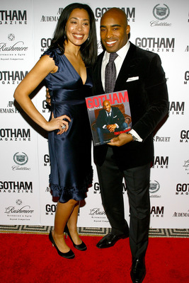 NEW YORK - JANUARY 30:  Gotham Magazine editor Keija Minor and New York Giant Tiki Barber attend Gotham Magazine's Seventh Annual Gala at Capitale on January 30, 2007 in New York City.  (Photo by Scott Wintrow/Getty Images)