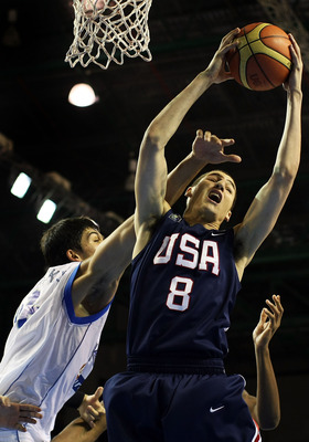 AUCKLAND, NEW ZEALAND - JULY 12:  Klay Thompson of the United States in action during the U19 Basketball World Championships Final match between Greece and the United States of America at North Shore Events Centre on July 12, 2009 in Auckland, New Zealand