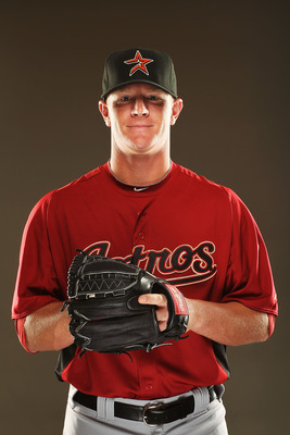 KISSIMMEE, FL - FEBRUARY 24:  David Carpenter #67 of the Houston Astros poses for a portrait during Spring Training photo Day at Osceola County Stadium  on February 24, 2011 in Kissimmee, Florida.  (Photo by Al Bello/Getty Images)
