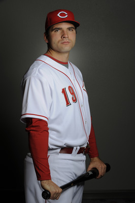 GOODYEAR, AZ - FEBRUARY 20: Joey Votto #19 of the Cincinnati Reds poses during their photo day at the Cincinnati Reds Spring Training Complex on February 20, 2011 in Goodyear, Arizona. (Photo by Rob Tringali/Getty Images)