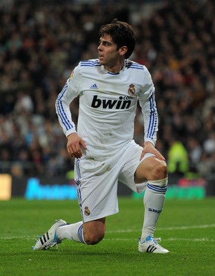 MADRID, SPAIN - FEBRUARY 06:  Kaka of Real Madrid reacts during the la Liga match between Real Madrid and Real Sociedad at Estadio Santiago Bernabeu on February 6, 2011 in Madrid, Spain.  (Photo by Jasper Juinen/Getty Images)