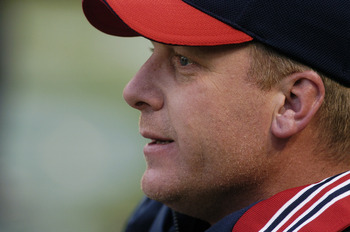 BALTIMORE, MD - APRIL 4:  Pitcher Curt Schilling #18 of the Boston Red Sox during the game against the Baltimore Orioles on April 4, 2004 at Camden Yards in Baltimore, Maryland.  The Orioles won 7-2. (Photo by Greg Fiume/Getty Images)