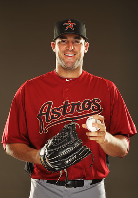 KISSIMMEE, FL - FEBRUARY 24:  Ryan Rowland Smith of the Houston Astros poses for a portrait during Spring Training photo Day at Osceola County Stadium  on February 24, 2011 in Kissimmee, Florida.  (Photo by Al Bello/Getty Images)