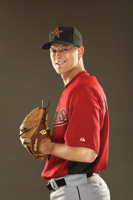 KISSIMMEE, FL - FEBRUARY 24:  Lance Pendleton #60 of the Houston Astros poses for a portrait during Spring Training photo Day at Osceola County Stadium  on February 24, 2011 in Kissimmee, Florida.  (Photo by Al Bello/Getty Images)