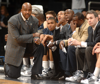 WASHINGTON, DC - FEBRUARY 5:  Head coach John Thompson III of the Georgetown Hoyas looks on during a college basketball game against the Providence Friars on February 5, 2011 at the Verizon Center in Washington, DC.  The Hoyas won 83-81.  (Photo by Mitche
