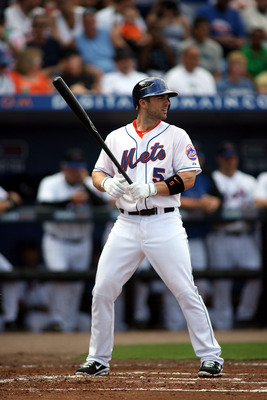 PORT ST. LUCIE, FL - FEBRUARY 26: Third baseman David Wright #5 bats against the Atlanta Braves at Digital Domain Park on February 26, 2011 in Port St. Lucie, Florida.  (Photo by Marc Serota/Getty Images)
