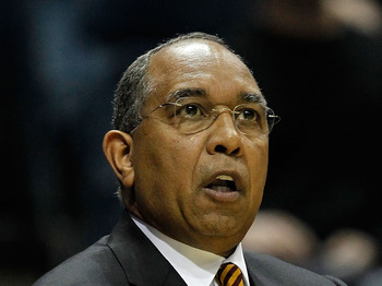 MILWAUKEE - MARCH 19:  Head coach Tubby Smith of the Minnesota Golden Gophers looks on in the first half during the first round of the 2010 NCAA men's basketball tournament against the Xavier Musketeers at the Bradley Center on March 19, 2010 in Milwaukee