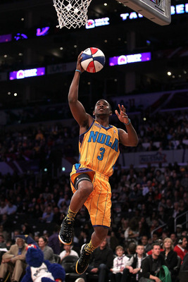 LOS ANGELES, CA - FEBRUARY 19:  Chris Paul #3 of the New Orleans Hornets competes in the Taco Bell Skills Challenge apart of NBA All-Star Saturday Night at Staples Center on February 19, 2011 in Los Angeles, California.  (Photo by Jeff Gross/Getty Images)