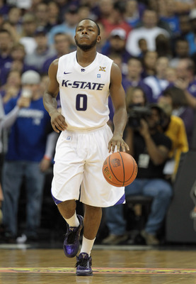 KANSAS CITY, MO - NOVEMBER 23:  Jacob Pullen #0 of the Kansas State Wildcats in action during the CBE Classic championship game against the Duke Blue Devils on November 23, 2010 at the Sprint Center in Kansas City, Missouri.  (Photo by Jamie Squire/Getty