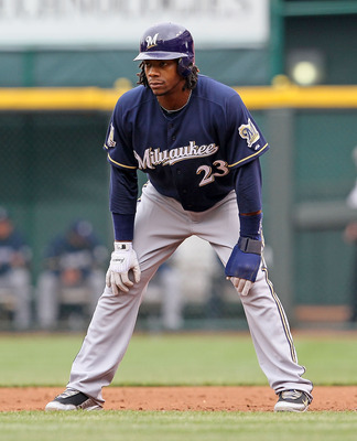 CINCINNATI - MAY 18:  Rickie Weeks # 23 of the Milwaukee Brewers is pictured during the game against the Cincinnati Reds at Great American Ball Park on May 18, 2010 in Cincinnati, Ohio.  (Photo by Andy Lyons/Getty Images)