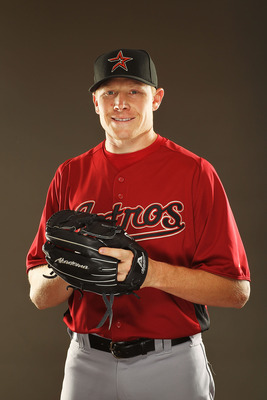 KISSIMMEE, FL - FEBRUARY 24:  Mark Melancon #54 of the Houston Astros poses for a portrait during Spring Training photo Day at Osceola County Stadium  on February 24, 2011 in Kissimmee, Florida.  (Photo by Al Bello/Getty Images)