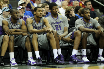 KANSAS CITY, MO - MARCH 10:  The Kansas State Wildcats bench reacts in the final moments of their 87-75 loss to the Colorado Buffaloes in the quarterfinals of the 2011 Phillips 66 Big 12 Men's Basketball Tournament at Sprint Center on March 10, 2011 in Ka