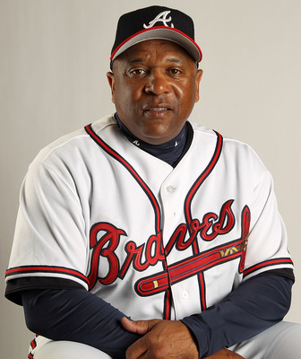 LAKE BUENA VISTA, FL - FEBRUARY 21: Coach Terry Pendleton #9 of the Atlanta Braves during Photo Day at  Champion Stadium at ESPN Wide World of Sports Complex on February 21, 2011 in Lake Buena Vista, Florida.  (Photo by Mike Ehrmann/Getty Images)