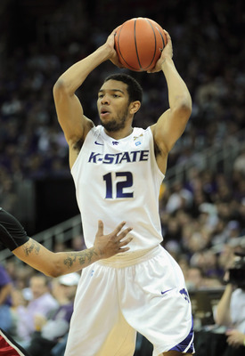 KANSAS CITY, MO - DECEMBER 21:  Nick Russell #12 of the Kansas State Wildcats in action during the game against the UNLV Rebels on December 21, 2010 at the Sprint Center in Kansas City, Missouri.  (Photo by Jamie Squire/Getty Images)
